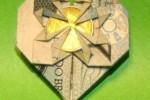 Origami Flor Coração Dinheiro