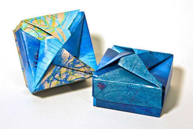 Dobradura para Presente: Caixa em Origami Modular