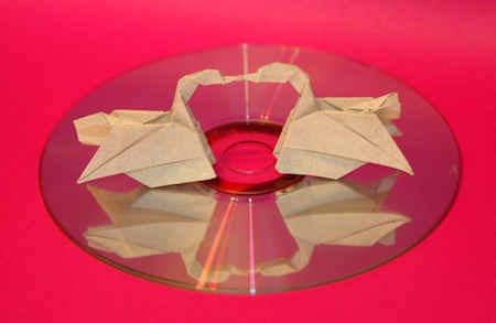 Origami Beijo de Cisnes