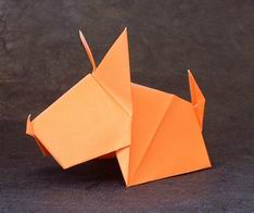 Origami dobrado seco