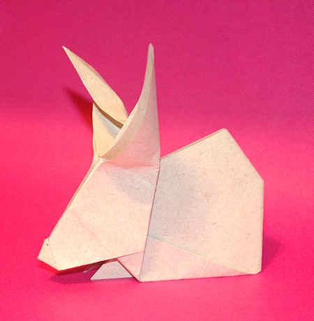 Origami de Coelho para a Páscoa