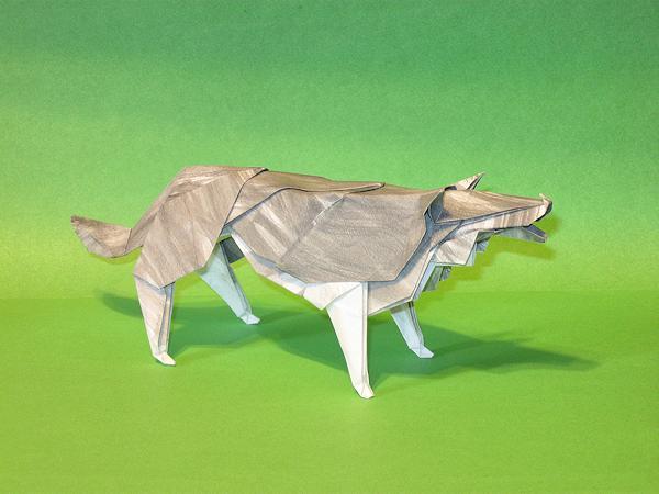 Origami Lobo de Hideo Komatsu