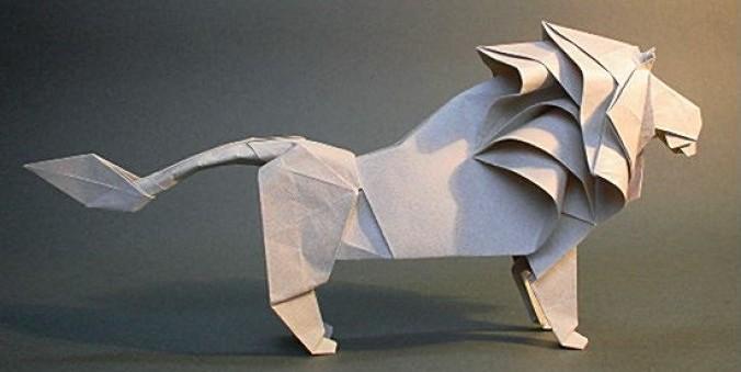 Origami Leão de Hideo Komatsu