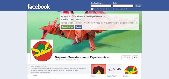 Origami no Facebook