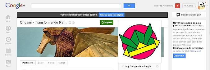 Origami no Google+