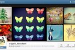 Origami no Instagram