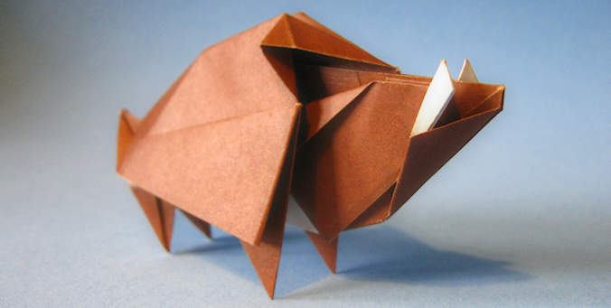 Origami Boar Hideo Komatsu