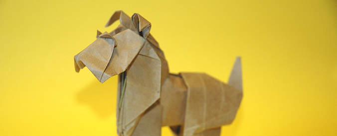Origami Fox Terrier Roman Diaz