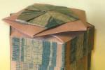 Origami de Caixa Pentagonal com Papel Muresco