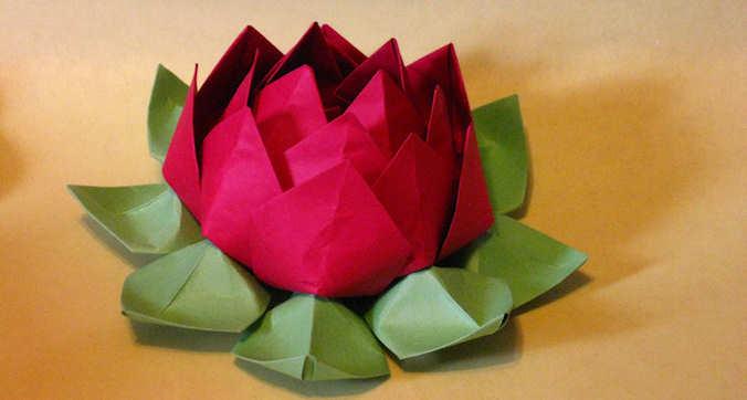 Origami Flor de Lotus