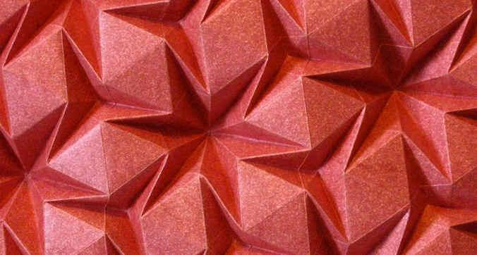 Origami Rhombus Waterbomb Tesselation