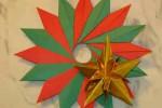 Origami Guirlanda de natal