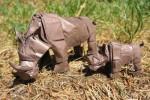Rinocerontes em Crease Pattern
