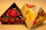 Origami de Rosa e Caixa