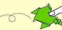 Origami Sapo que Pula